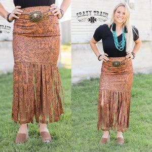 Crazy Train LONESTAR FRINGE SKIRT